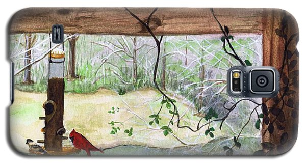 Cardinal-back Porch Picnic Galaxy S5 Case
