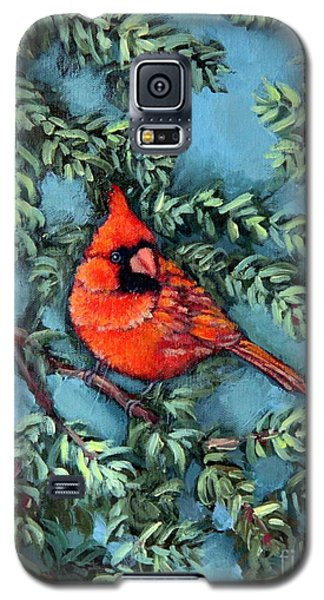 Cardinal In Spruce Galaxy S5 Case by Inese Poga