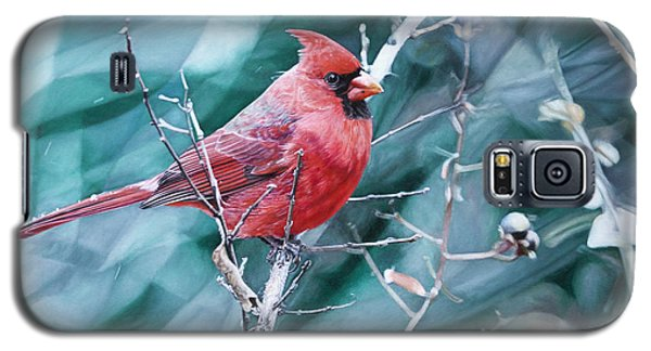 Cardinal In Winter Galaxy S5 Case by Joshua Martin