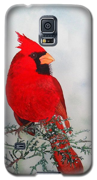 Galaxy S5 Case featuring the painting Cardinal by Laurel Best