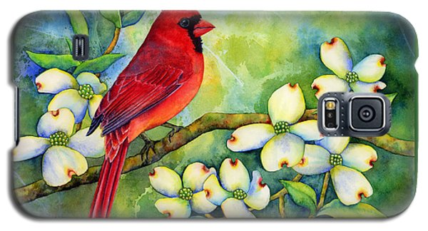 Cardinal On Dogwood Galaxy S5 Case by Hailey E Herrera