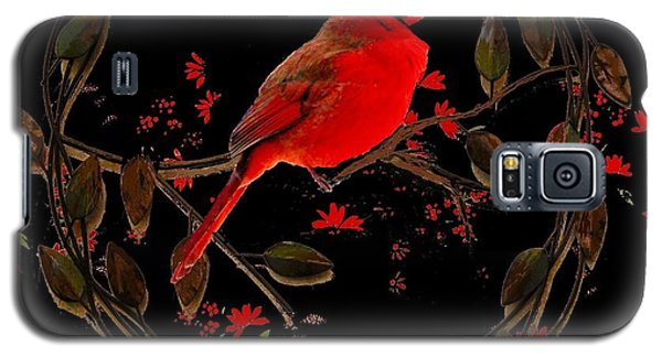 Cardinal On Metal Wreath Galaxy S5 Case by Janette Boyd