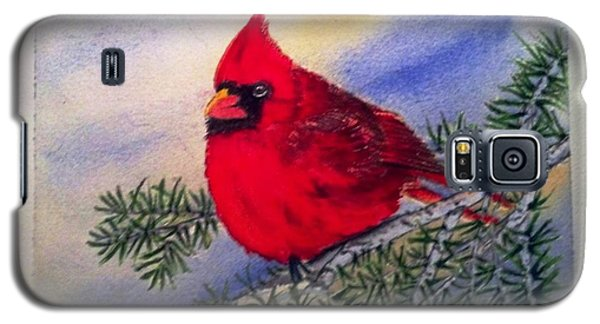 Galaxy S5 Case featuring the painting Cardinal by Richard Benson