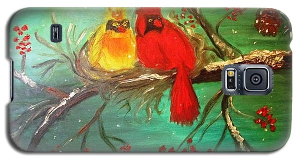 Cardinals Winter Scene Galaxy S5 Case
