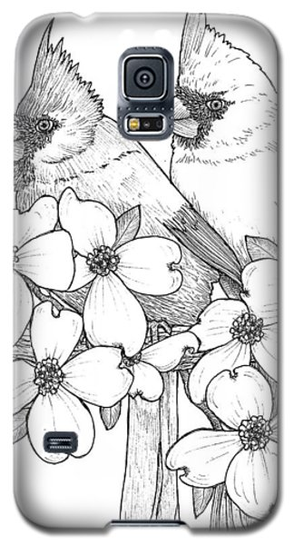 Cardinals And Dogwoods Galaxy S5 Case
