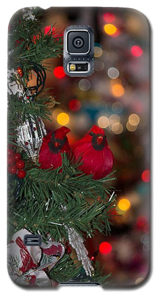 Galaxy S5 Case featuring the photograph Cardinals At Christmas by Patricia Babbitt