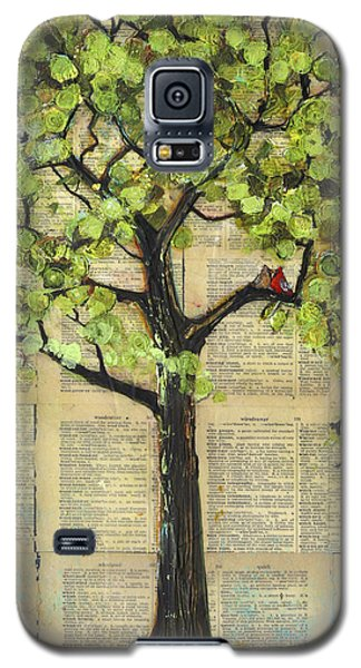 Cardinals In A Tree Galaxy S5 Case by Blenda Studio