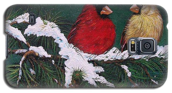 Cardinals In The Snow Galaxy S5 Case by Sharon Duguay