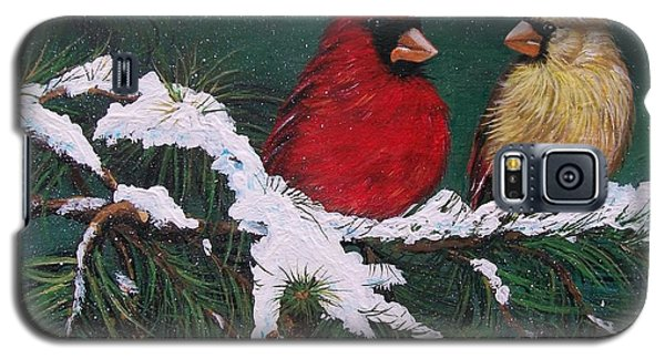 Cardinals In The Snow Galaxy S5 Case