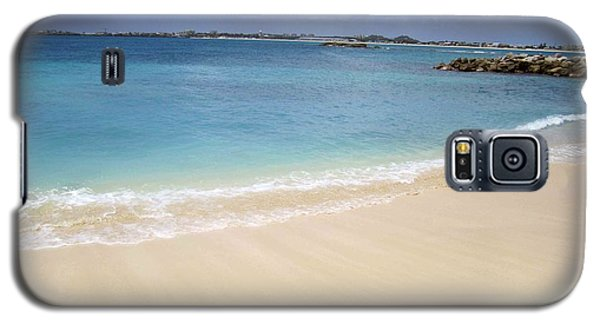 Galaxy S5 Case featuring the photograph Caribbean Beach Front by Fiona Kennard
