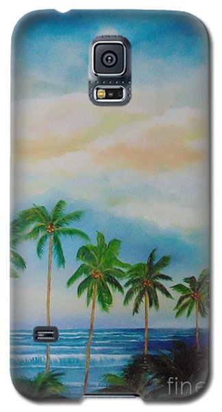 Galaxy S5 Case featuring the painting Caribbean Dream by Nereida Rodriguez