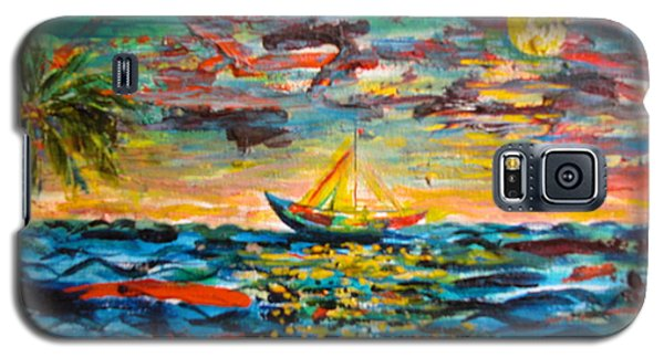 Galaxy S5 Case featuring the painting Caribbean Landscape by Egidio Graziani