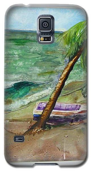 Galaxy S5 Case featuring the painting Caribbean Morning II by Keith Thue