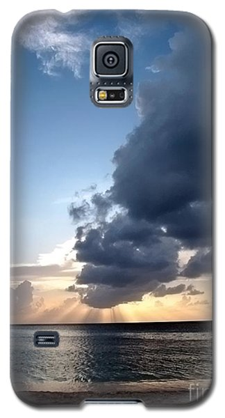 Caribbean Sunset Galaxy S5 Case by Peggy Hughes