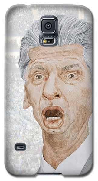 Caricature Of Wwe Owner Vince Mcmahon Galaxy S5 Case by Jim Fitzpatrick