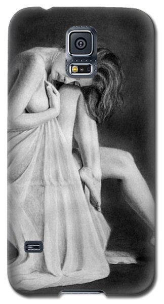 Galaxy S5 Case featuring the drawing Carly by Joseph Ogle