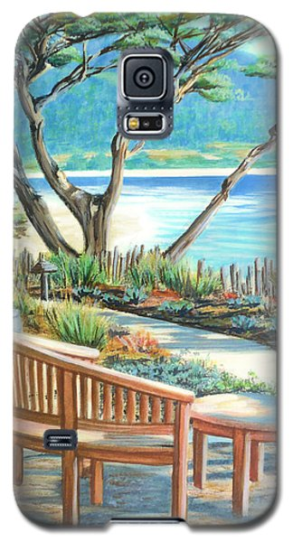 Galaxy S5 Case featuring the painting Carmel Lagoon View by Jane Girardot