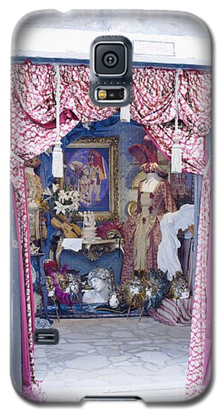 Galaxy S5 Case featuring the digital art Carnevale Shop In Venice Italy by Victoria Harrington