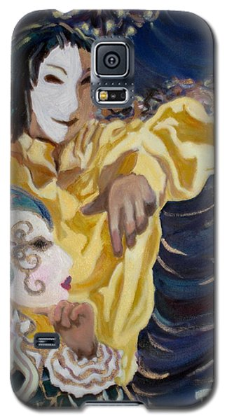 Galaxy S5 Case featuring the painting Carnevale Venezia by Julie Todd-Cundiff