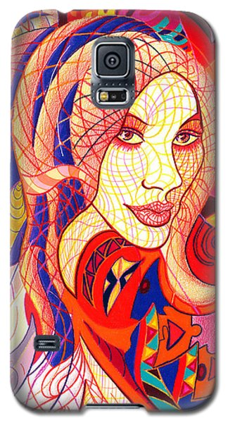 Galaxy S5 Case featuring the drawing Carnival Girl by Danielle R T Haney