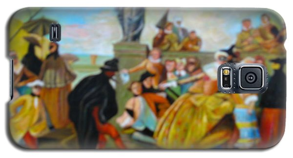 Galaxy S5 Case featuring the painting Carnival Of Venice by Egidio Graziani