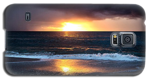 Galaxy S5 Case featuring the photograph Carolina Beach October Sunrise by Phil Mancuso