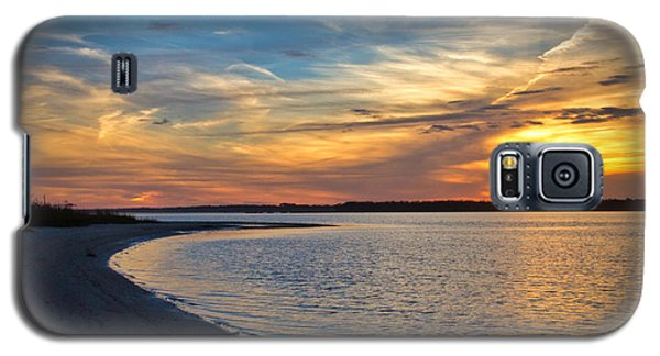 Carolina Beach River Sunset II Galaxy S5 Case by Phil Mancuso