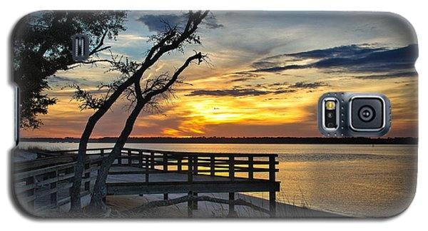 Carolina Beach River Sunset Galaxy S5 Case by Phil Mancuso