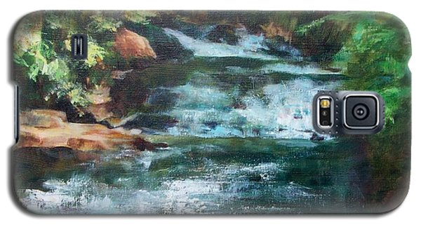 Galaxy S5 Case featuring the painting Carolina Falls by Mary Lynne Powers