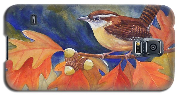 Carolina Wren In Autumn Galaxy S5 Case