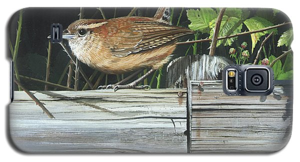 Galaxy S5 Case featuring the painting Carolina Wren by Mike Brown