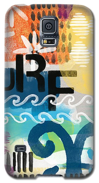 Beach Galaxy S5 Case - Carousel #7 Surf - Contemporary Abstract Art by Linda Woods