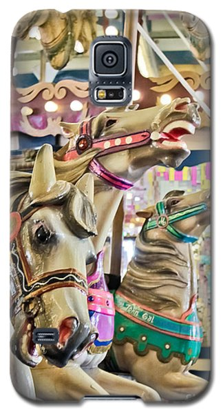 Carousel At Casino Pier Galaxy S5 Case by Colleen Kammerer