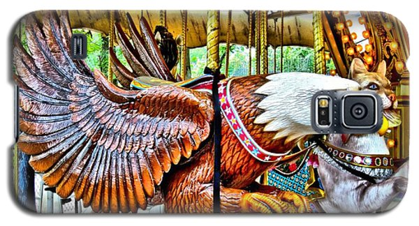 Galaxy S5 Case featuring the photograph Carousel Eagle by Margaret Newcomb