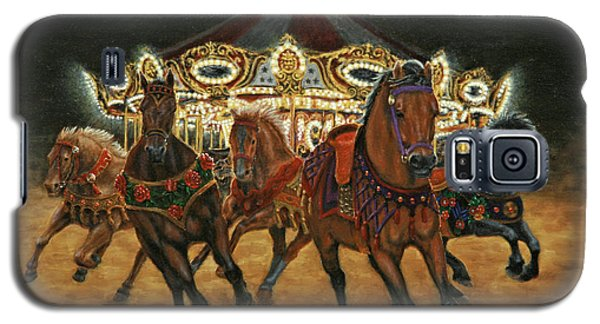 Galaxy S5 Case featuring the painting Carousel Escape At Night by Jason Marsh