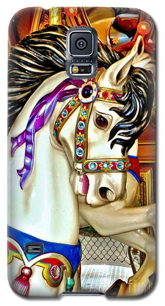 Galaxy S5 Case featuring the photograph Carousel Horse by Margaret Newcomb