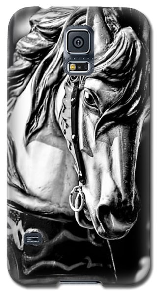 Carousel Horse Two - Bw Galaxy S5 Case