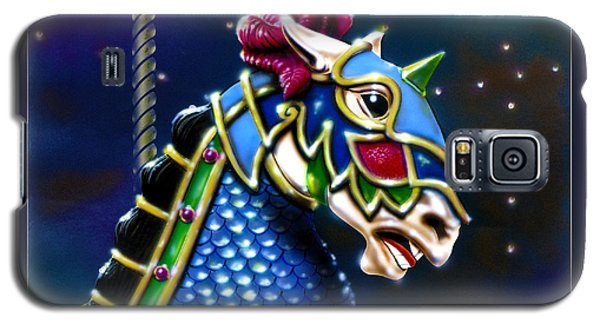 Galaxy S5 Case featuring the painting Carousel  by Ron Haist