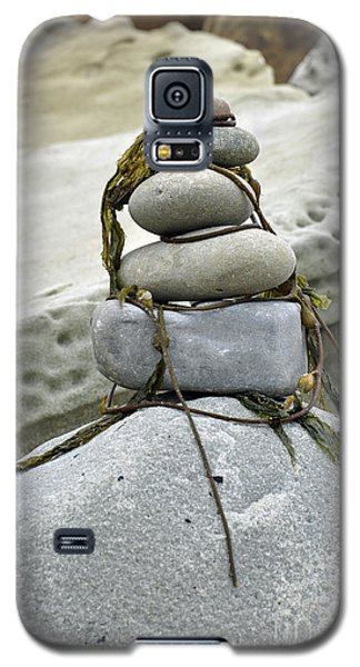 Galaxy S5 Case featuring the photograph Carpinteria Stones by Minnie Lippiatt