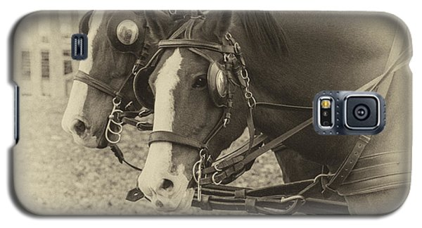 Galaxy S5 Case featuring the photograph Carriage Horses I by Terry Rowe