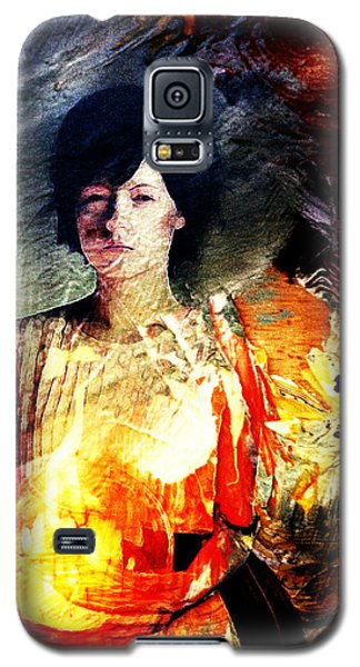 Galaxy S5 Case featuring the digital art Carrying Sadness by Andrea Barbieri