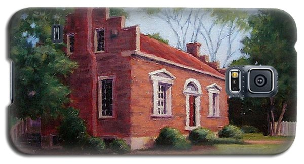 Galaxy S5 Case featuring the painting Carter House In Franklin Tennessee by Janet King