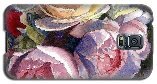 Galaxy S5 Case featuring the painting Caryn's Roses by Janet King
