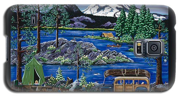 Galaxy S5 Case featuring the painting Cascade Lake Sparks by Jennifer Lake