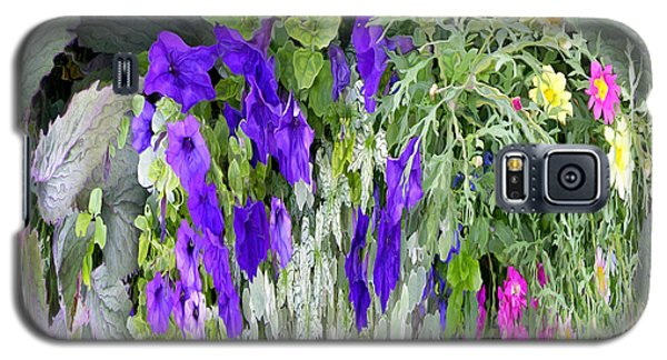 Galaxy S5 Case featuring the photograph Cascade Of Flowers by Mariarosa Rockefeller