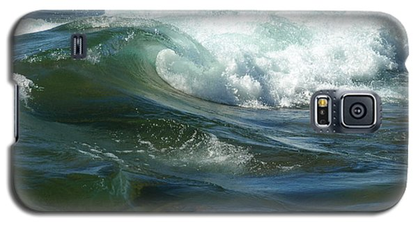 Galaxy S5 Case featuring the photograph Cascade Wave by James Peterson