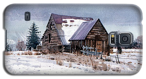 Galaxy S5 Case featuring the painting Cache Valley Barn by Donald Maier