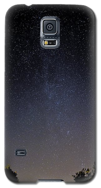 Galaxy S5 Case featuring the photograph Cassiopeia And Andromeda Galaxy 01 by Greg Reed