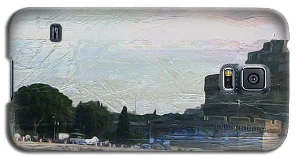 Galaxy S5 Case featuring the painting Castel Sant'angelo     by Brian Reaves