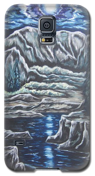 Galaxy S5 Case featuring the painting Casting Shadows by Cheryl Pettigrew